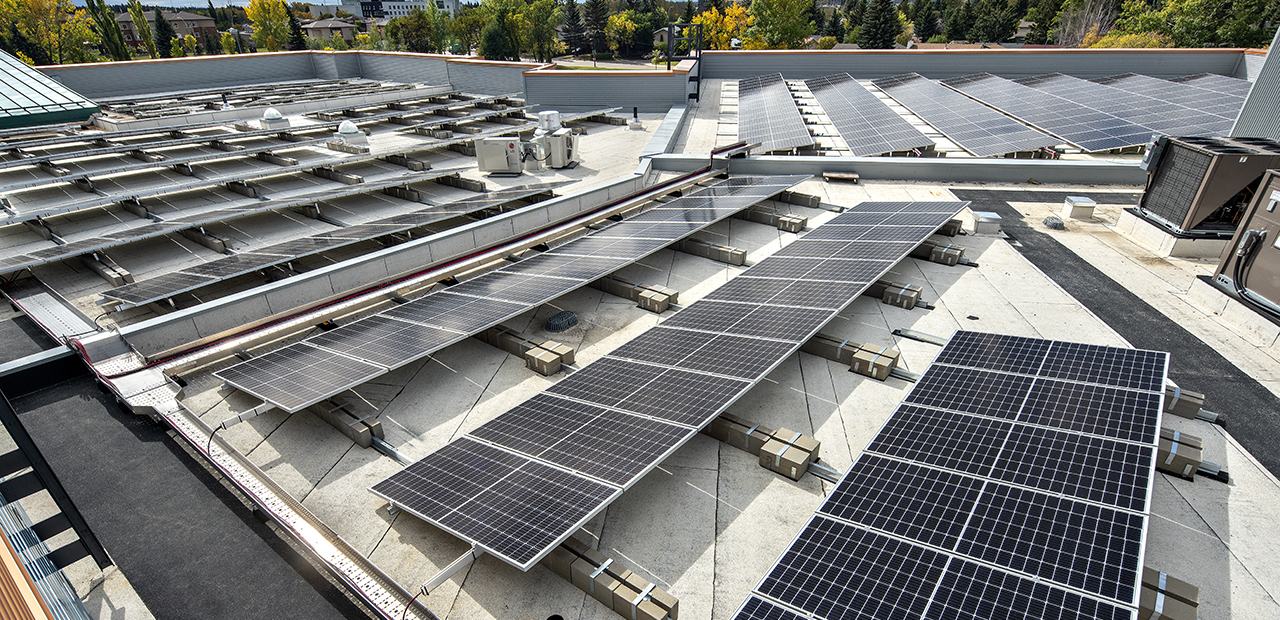 Roof View with Solar Panels - from page of website