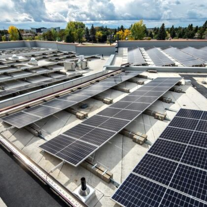 Roof View with Solar Panels - website